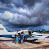This is an HDR from a single RAW file I got out of the NEX-7. There was a shaft of sunlight shining on the little plane as my family was about to crawl inside and brave the storm beyond…