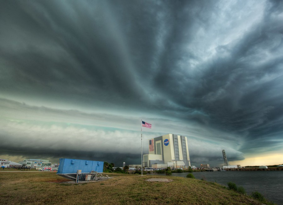 Trey Ratcliff Photo of Storm over NASA in Florida