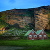"<h2>Farmhouse and Roosting Birds at Dusk</h2> I only got to stay in this magical place for one night.  If you're really into birds, then you may notice a thing or two about this photo.  Iceland is known for many species of birds, and you can see a bunch of them roosting back in the cliff there.  - Trey Ratcliff  Read more <a href=""http://www.stuckincustoms.com/2011/12/12/farmhouse-and-roosting-birds-at-dusk/"">here</a> at the Stuck in Customs blog."