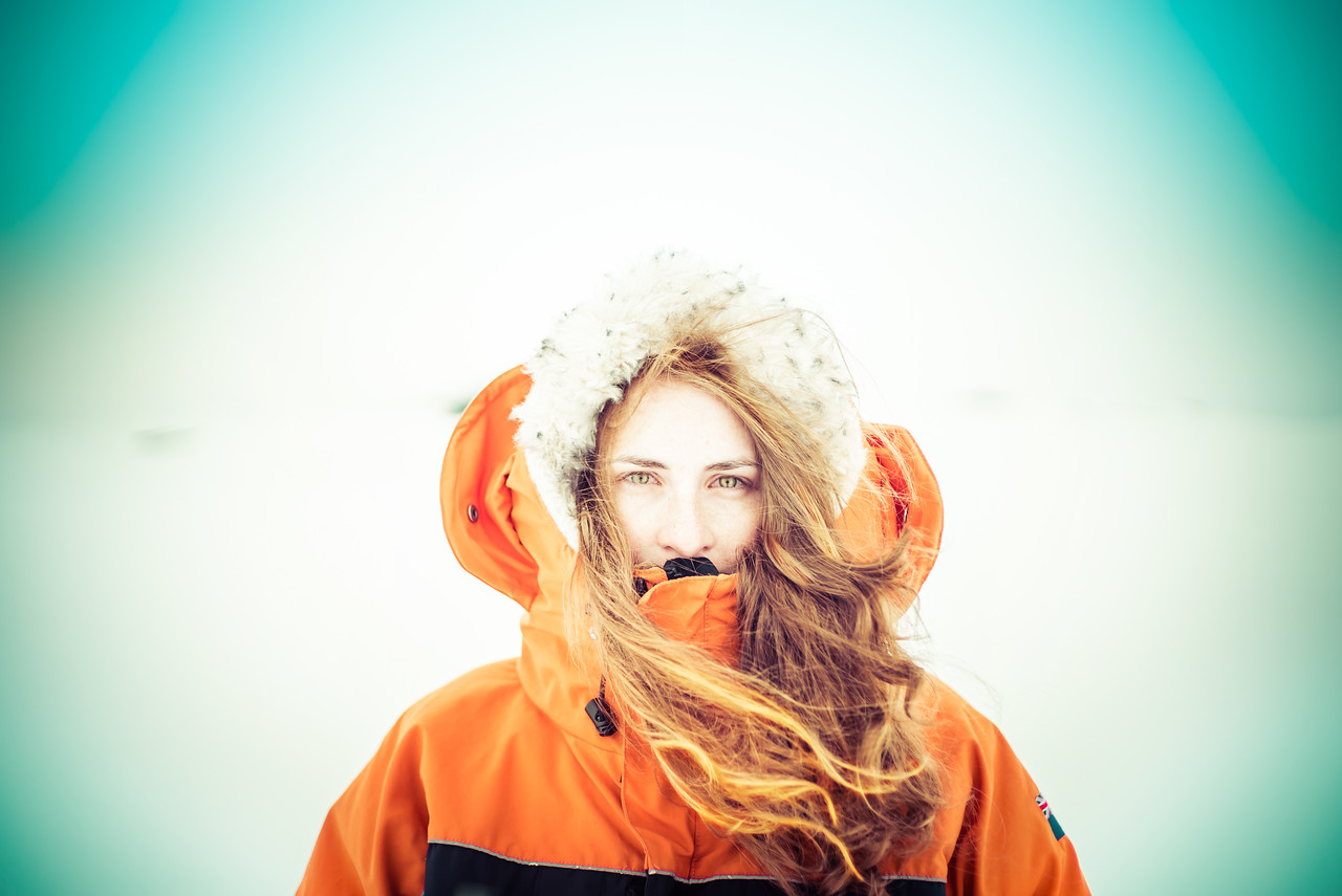 Girl in Antarctica
