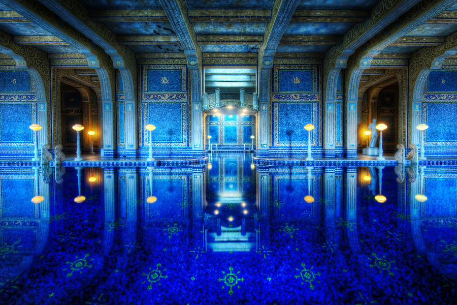 The Private Pool at Hearst Castle in California