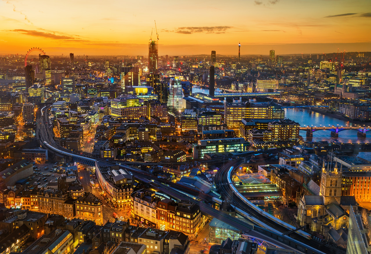 Beautiful London at Sunset