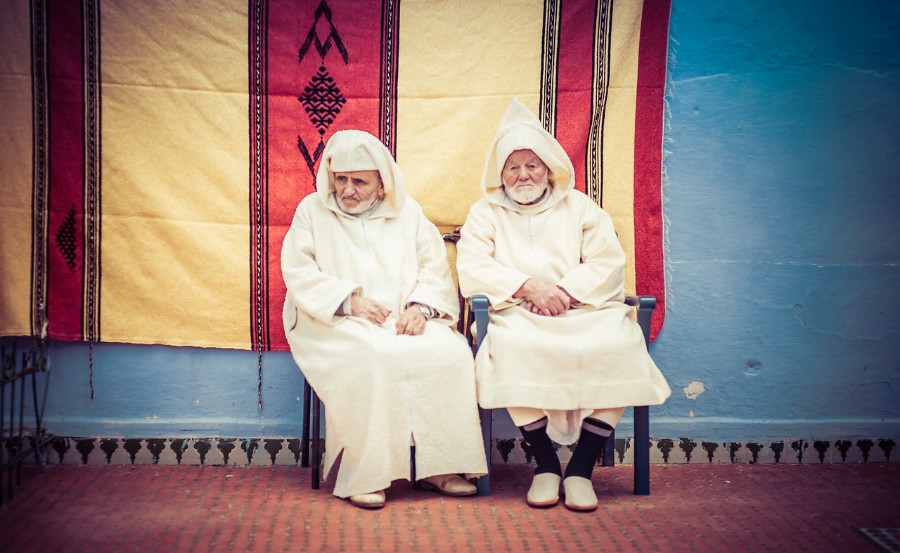 Two Men In Jilabas In Morocco