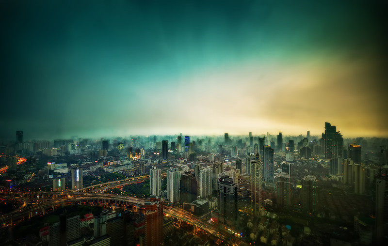 The Hypercity of Shanghai When you are up in one of the taller buildings in Shanghai, you can look in almost any direction and see a Blade-Runneresque view. It's always staggering. I'd love to see a time-lapse of Shanghai being built up over the last 30 years… that would be amazing. - Trey RatcliffClick here to read the rest of this post at the Stuck in Customs blog.