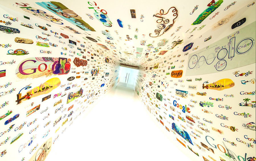 Google DoodleThe new Google offices in Los Angeles are right in the heart of Venice.  After passing through some hardcore security, you walk down this hallway, which I guess is a bit like dying and going to Google heaven.You probably know about all the various Google doodles that decorate the home page.  I heard the first one was of Burning Man.  I didn't see that one on the walls... but maybe you can!- Trey RatcliffClick here to read the rest of this post at the Stuck in Customs blog.
