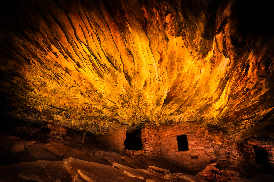 The Flaming Anasazi Ruins