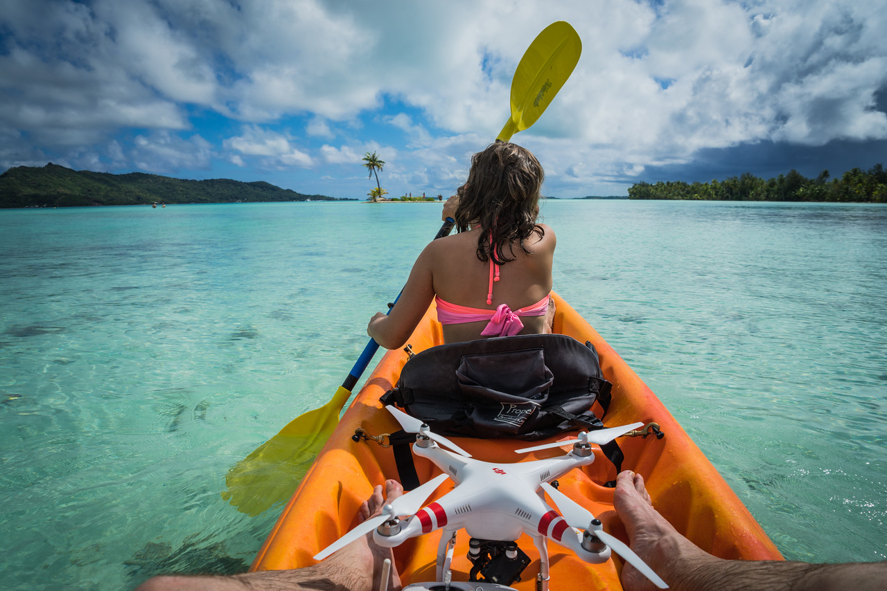 Kayaking to the Deserted Island