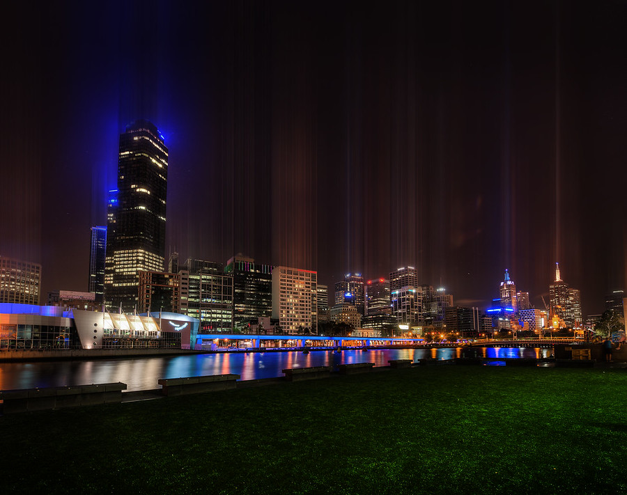 The Skyline of Melbourne from Across the River