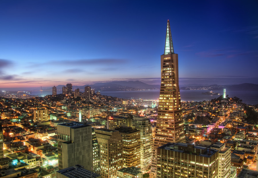 Beautiful City San Francisco Cityscape