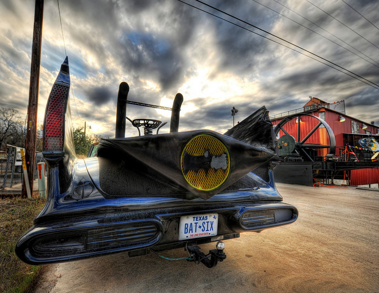 The Batmobile On one of my little Texas road trips, I saw this thing on the side of the road and it was worth a turn-around!  It kind of makes me want to have an awesome and impractical car like this.  Everything else I do in my life is so dang practical...I think I need an impractical car!- Trey RatcliffClick here to read the rest of this post at the Stuck in Customs blog.