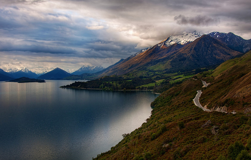 "<h2>The Most Beautiful Road in the World</h2> <br/>I found it!<br/><br/>I've looked at travel guides and driven on a ton of beautiful, scenic roads all over the world, but I think this road to Queenstown (on the way to/from Glenorchy) is the most beautiful in the world.  The road winds down one side of a perfect, fjord-like lake, and every few kilometers, the mountain views change dramatically.  Depending upon the time of day you travel it, the entire landscape transforms before your eyes.<br/><br/>Wonder what it looks like on the other side of the lake?  You won't believe that it is in the same place!  See this photo called <a href=""http://www.stuckincustoms.com/2010/03/09/the-remarkables-queenstown/"" rel=""nofollow"">Mountainstorm</a> that I took on a previous trip to this location.  It was shot later in the evening, so I wasn't able to properly capture the road that time.<br/><br/>What's the prettiest road you have ever found?  I've seen conflicting guides of the most beautiful roads in the US... I'm sure everyone has their opinion... I'd love to know what you think!<br/><br/>- Trey Ratcliff<br/><br/><a href=""http://www.stuckincustoms.com/2010/10/30/the-most-beautiful-road-in-the-world/"" rel=""nofollow"">Click here to read the rest of this post at the Stuck in Customs blog.</a>"