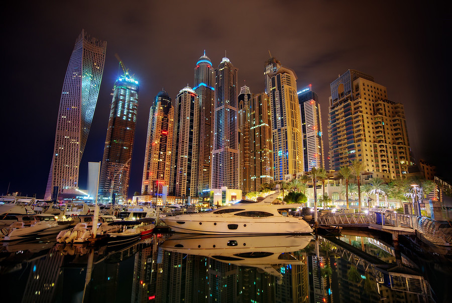 The Yacht Marina in Dubai