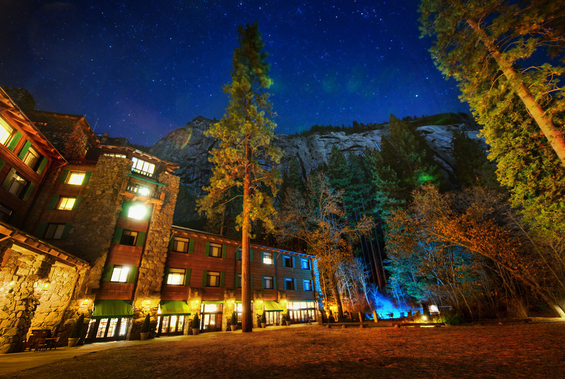 "<h2>The Lodge at Night</h2> <br/>On the final night of the Yosemite PhotoWalk, we ended up here to explore the evening.  This is the Ahwahnee Hotel in Yosemite, and I hope I made it look as beautiful as it really is.  This is also the place that Steve Jobs got married.<br/><br/>Karen Hutton and I arrived here very late at night after our extra-long walk!  We could even see a few people camping for the night halfway up the mountain they were climbing.  After going around the back side of the lodge, we saw the stars and trees and cliffs above...<br/><br/>- Trey Ratcliff<br/><br/><a href=""http://www.stuckincustoms.com/2012/02/03/new-show-the-lodge-at-night/"">Click here to read the rest of this post at the Stuck in Customs blog.</a>"