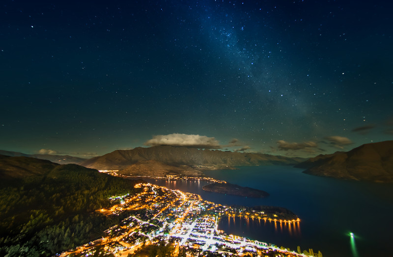 "<h2>The Milky Way over Queenstown</h2> <br/>Tom and I went up to the top of the gondola a few days ago to get some shots of the stars. The sky was clear and we were lucky!<br/><br/>I made this with the fisheye lens and then did the lens correction on it. A bunch of stuff ended up getting cut off, but only I know that… It bothers me because there was some other awesome stuff! But since you don't know what you're missing… well I hope it is just good enough. :)<br/><br/>- Trey Ratcliff<br/><br/><a href=""http://www.stuckincustoms.com/2013/01/25/the-milky-way-over-queenstown/"" rel=""nofollow"">Click here to read the rest of this post at the Stuck in Customs blog.</a>"