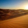 The Sun Sets in the Sahara Desert