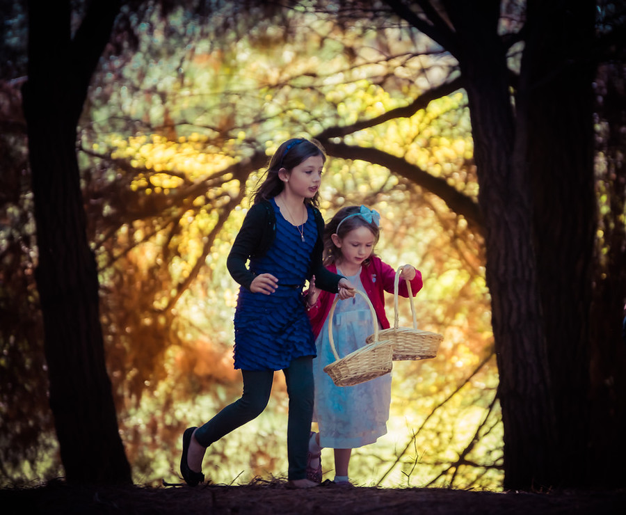 My Daughters in the Autumn Forest