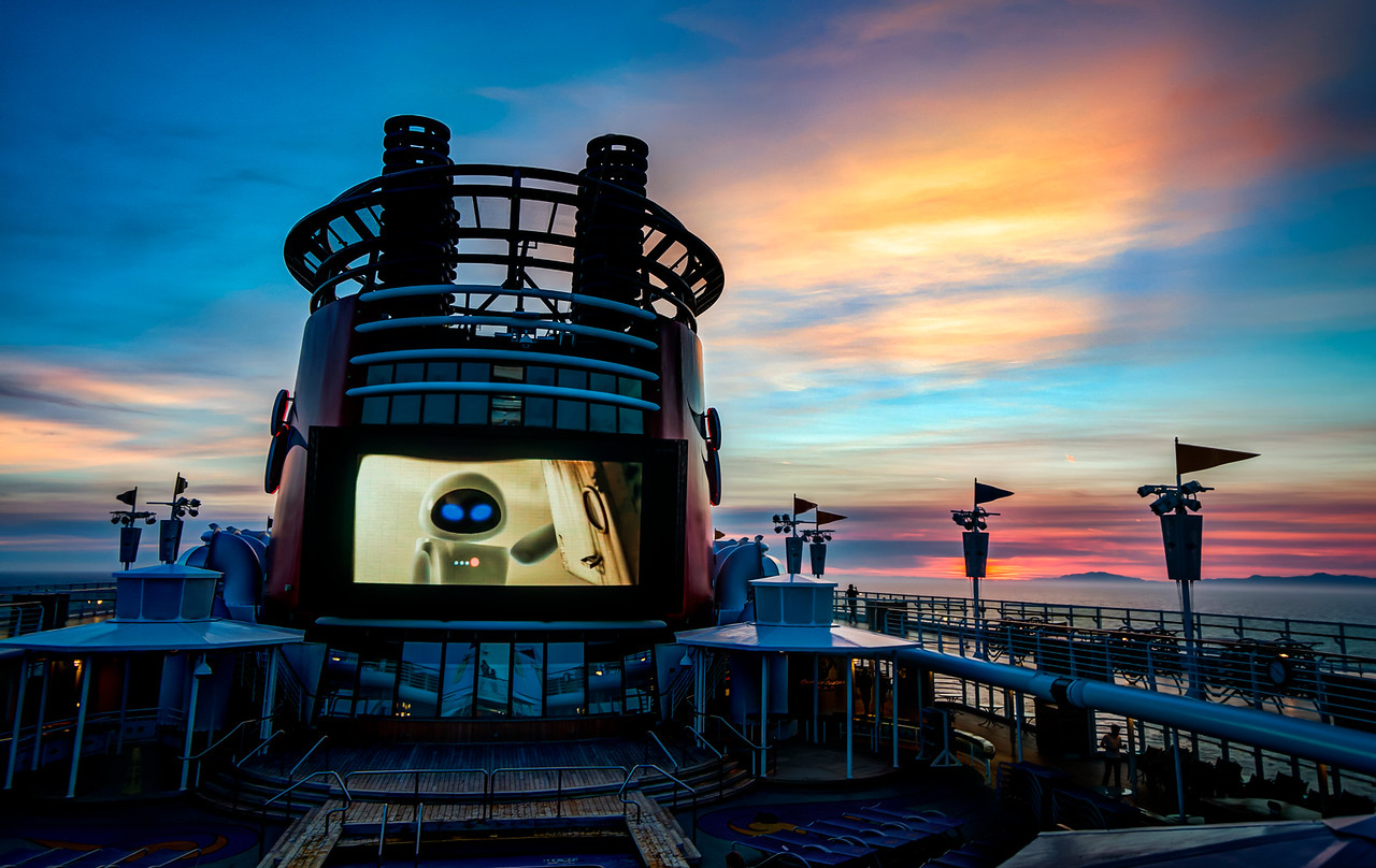 Watching A Movie On The Cruise