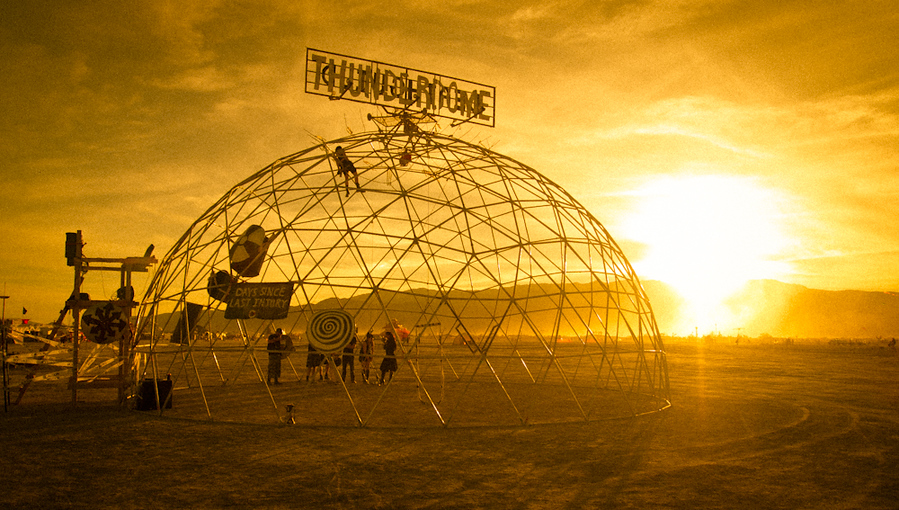 What is more Mad Max than Thunderdome? Not much! This was a great landmark that helped me find my way home around 3 AM... My camp was pretty close by.
