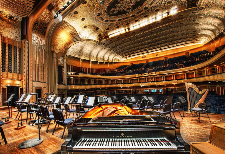 "Severance HallI shared this photo in the beginning of my talk.  I shot it earlier in the morning with the Nikon D800 (that I borrowed from Lester) when I went to visit the amazing Severance Hall.I'm going to start up my Nikon D800 Review page and fill it up over the next few weeks with my thoughts and samples from the camera.  I won't really get the thing ""done"" for a while, but at least you'll get some ideas of my thoughts and feedback on the camera.So, Severance Hall was a beautiful venue.  It's the home of the Cleveland Orchestra, and it's one of the most beautiful conference halls in the world.  If you visit Cleveland, this is on the must-see list!  I got a lot more shots, and I can talk more about this amazing place in the future... for now... it's been a long day and I'm awfully tired... enjoy. :)- Trey RatcliffClick here to read the entire post, including the D800 review, over at the Stuck in Customs blog."