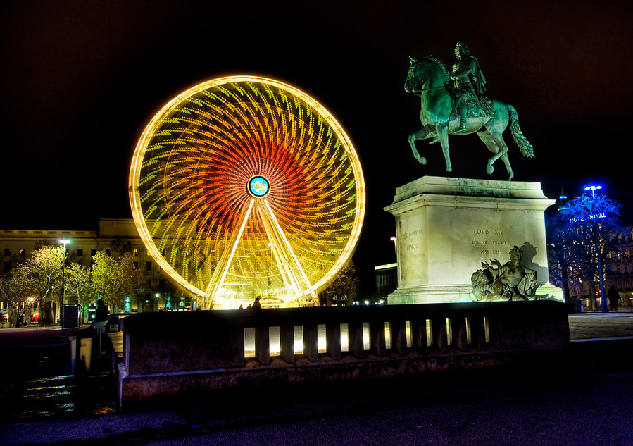 King Louis and the Ferris Wheel in Lyon France