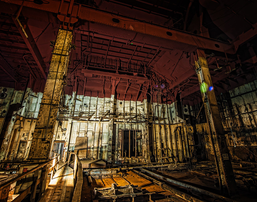 The Abandoned Boiler Room from the Queen Mary