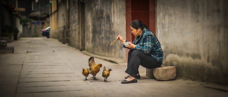 "<h2>Feeding Chooks in Feng Huang</h2> <br/>When in Feng Huang, I decided to go down to the river to take some photos. There was a direct way, but I thought it might be more interesting to zig-zag my way there through alleys. One of the most wonderful things about China is how safe it is. I never had any fear for my life or anything as I move around these places. It's so safe, in fact, that it's almost eerie! But, eerie in a good way, of course…<br/><br/>- Trey Ratcliff<br/><br/><a href=""http://www.stuckincustoms.com/2013/02/11/feeding-chooks-in-feng-huang/"" rel=""nofollow"">Click here to read the rest of this post at the Stuck in Customs blog.</a>"