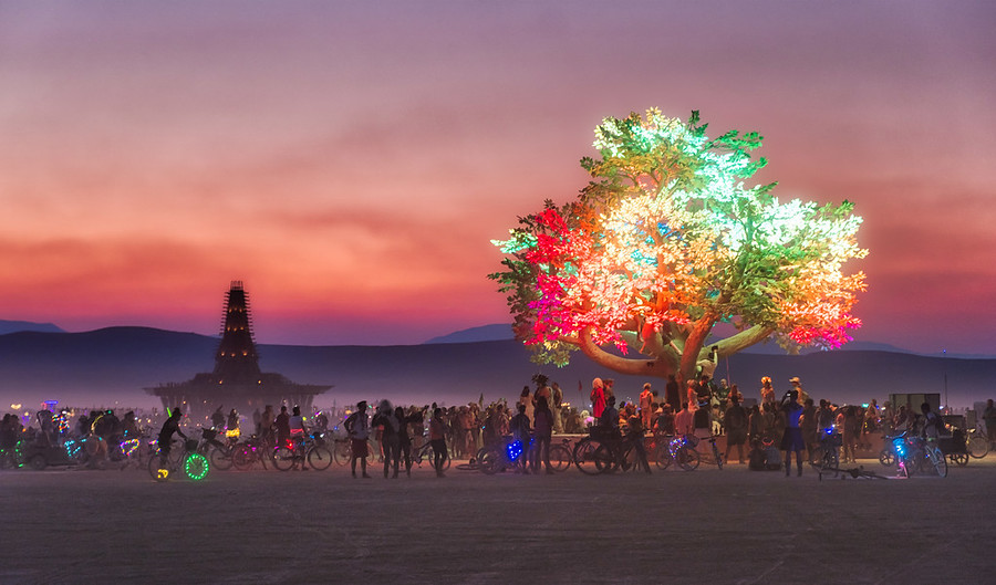 Burning Man Photo Editing