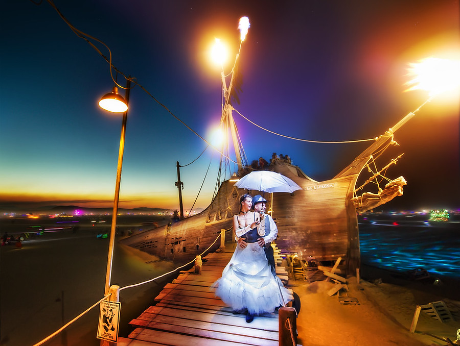 Burning Man Ship Dock
