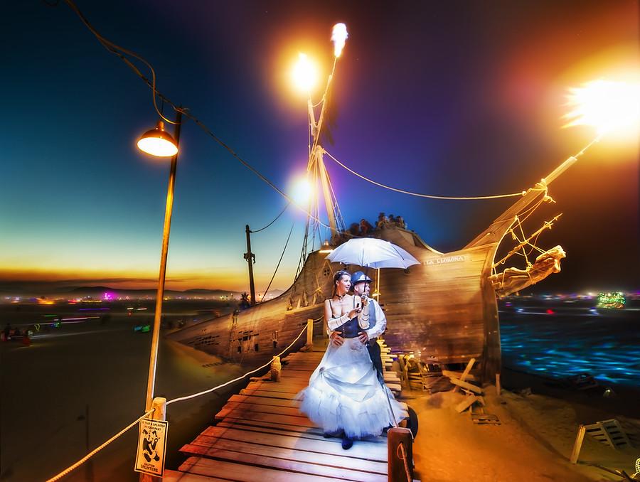 Burning Man Ship Dock