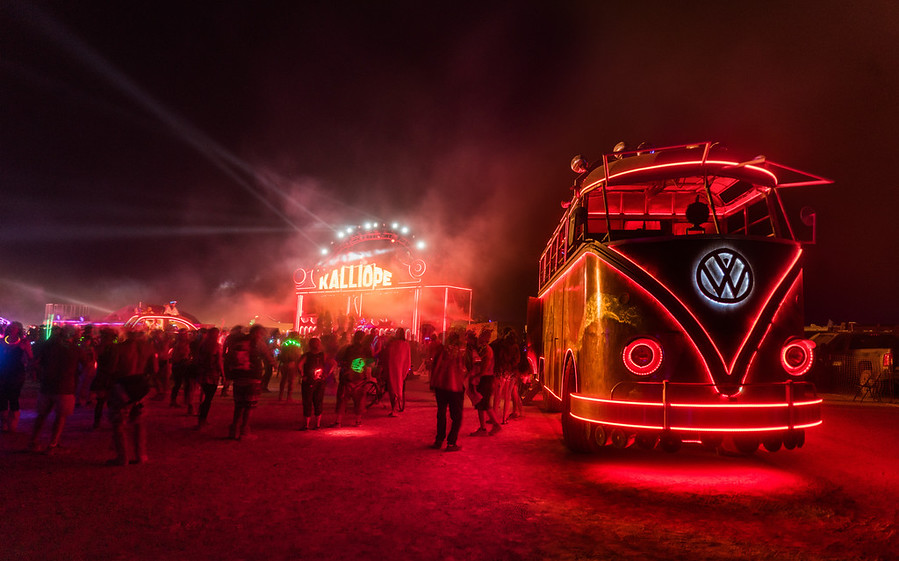 And here's yet another art car – Walter, the giant VW Bus! :)