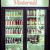The Pinterest fridge has a ton of tasty things for the employees to come grab any time of the day or night...