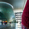 "<h2>The Capital Museum in Beijing</h2> <br/>And look - another amazing super-structure in Beijing! <br/><br/>Over the Thanksgiving weekend, I've had a lot of family in town and been showing them all my unpublished stuff from Beijing, including this photo.  They all remark on how impeccably modern and impressive the city has become.   From what I understand, they have started bringing in more and more western architects to design innovative structures.  I'm not sure who the architect here is... but it's very well done. <br/><br/>See that giant red velvet wall to the right?  It's hiding a new display that's currently being built.  I've never seen such an elaborate ""under construction"" wall! <br/><br/>- Trey Ratcliff<br/><br/><a href=""http://www.stuckincustoms.com/2010/11/27/capital-museum-in-beijing/"" rel=""nofollow"">Click here to read the rest of this post at the Stuck in Customs blog.</a>"