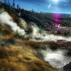 "<h2>Where Geothermal Steam Covers the Land</h2> <br/>Every time I go to Yellowstone, I see something different. There are hundreds of great locations, each one of which should be visited for at least an hour during three different times of the day.<br/><br/>This is a new area I visited on my most recent trip there. I don't think it is always this steamy, since the air temp has to be a certain delta to the water.   I don't know why, but it's always fun to sit there and watch the boiling water.  I don't enjoy watching boiling water in my kitchen, but the sight there is always mesmerizing..   There is also the strong smell of sulfur carried through the area.  It wasn't repulsive at all, but it did give me the just-took-off-my-helmet-on-an-away-mission feeling.<br/><br/>- Trey Ratcliff<br/><br/><a href=""http://www.stuckincustoms.com/2009/05/09/where-geothermal-steam-covers-the-land/"" rel=""nofollow"">Click here to read the rest of this post at the Stuck in Customs blog.</a>"