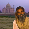 """<h2>Alone at the Taj</h2> <br/>Azed Baba would not tell me much about himself except for what his name means. Azed means """"freedom"""" and Baba means """"spiritual man"""". We sat around and watched the sunset at the Taj together and I asked if I could take his picture.<br/><br/>After I while I rubbed my House-like stubble since it has been a few days since I shaved. I asked him if he liked my beard. He gave a grunt in response which was either a laugh or a grunt of general disgust at the state of my beard.<br/><br/>- Trey Ratcliff<br/><br/><a href=""""http://www.stuckincustoms.com/2007/11/11/alone-at-the-taj/"""" rel=""""nofollow"""">Click here to read the rest of this post at the Stuck in Customs blog.</a>"""
