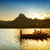 """<h2>Sunset at Glacier National Park</h2> I'm having a nice weekend processing photos.  I just completed this one a few hours ago, and it brought back good memories of Glacier National Park.  I don't think I ever really got warm there.  Even in the room there was a steady chill.  This is a strange memory of that place...  I normally don't mind the cold as there are a few occasions to warm up and reset my system.  - Trey Ratcliff  Read more <a href=""""http://www.stuckincustoms.com/2011/11/20/sunset-at-glacier-national-park/"""">here</a> at the Stuck in Customs blog."""