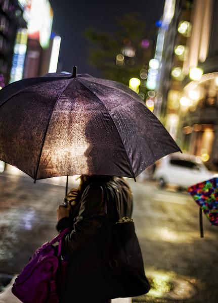 girl on rain
