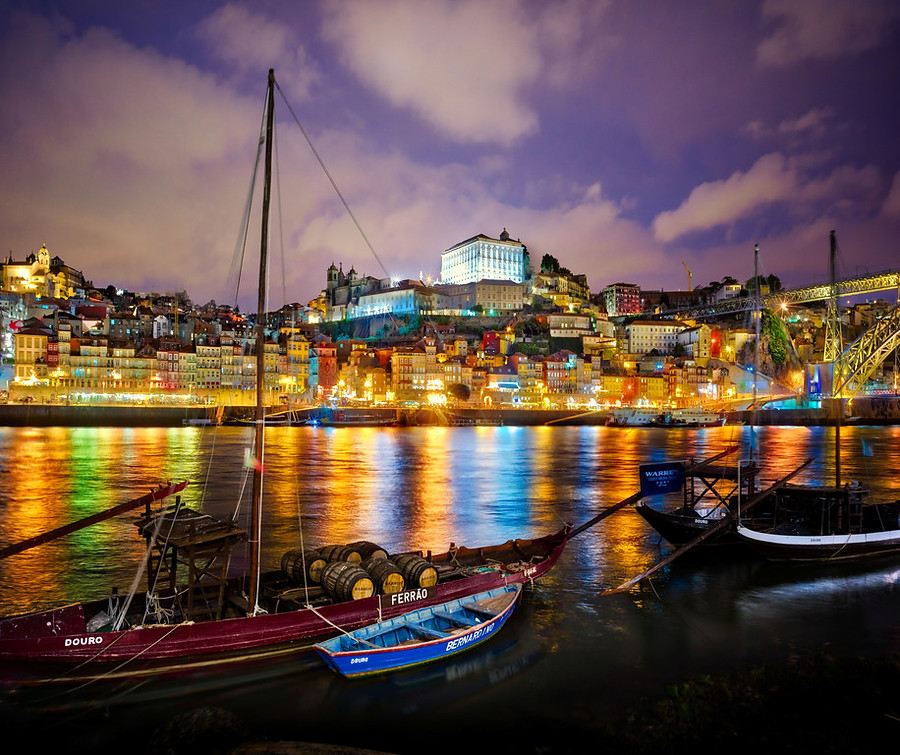Stuck in customs hdr photography travel photography and camera beautiful porto at night fandeluxe Image collections