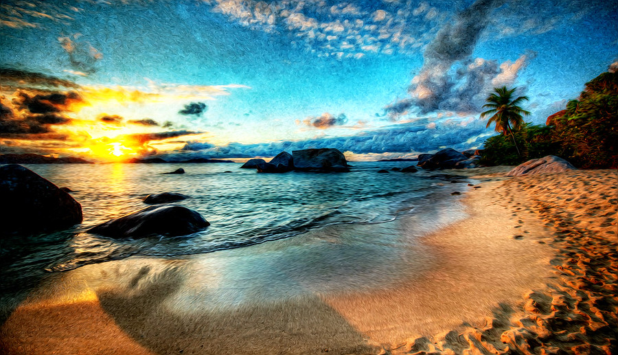 Evening on the Beach in Virgin Gorda