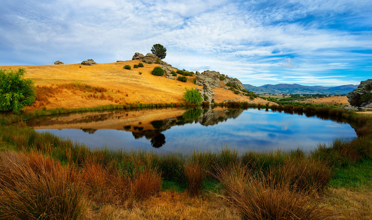 The Pond in Ophir, New Zealand