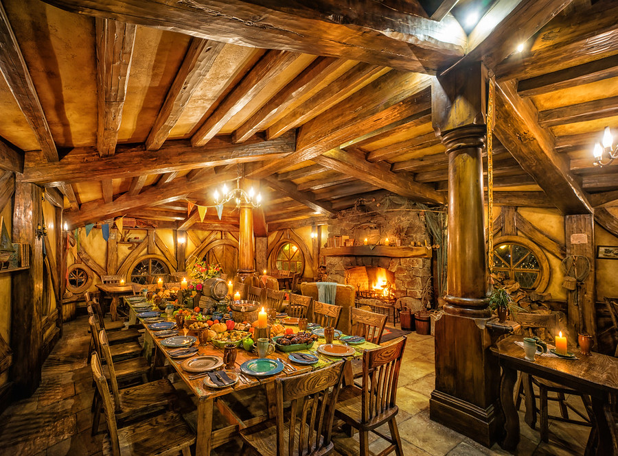 An amazing meal in Hobbiton