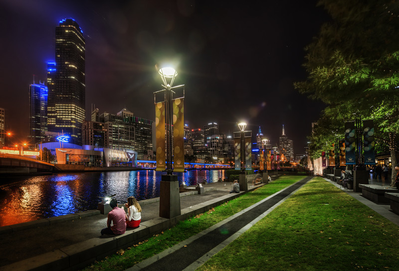 """<h2>Enjoying the Melbourne Skyline</h2> <br/>Here's another photo from our amazing Melbourne photowalk. I really enjoyed walking up and down this area along the river. It felt like one of the most """"walkable"""" and scenic downtown areas I've ever encountered. It reminded me a little of Zurich in that way.<br/><br/>I stayed over in The Olsen hotel, which is one of the """"Art Series"""" hotels… a very cool idea where the entire hotel is themed after a certain artist. They have a few different hotels, and next time I might try to stay a little closer in by the location where I took this shot.<br/><br/>- Trey Ratcliff<br/><br/><a href=""""http://www.stuckincustoms.com/2013/02/02/enjoying-the-melbourne-skyline/"""" rel=""""nofollow"""">Click here to read the rest of this post at the Stuck in Customs blog.</a>"""