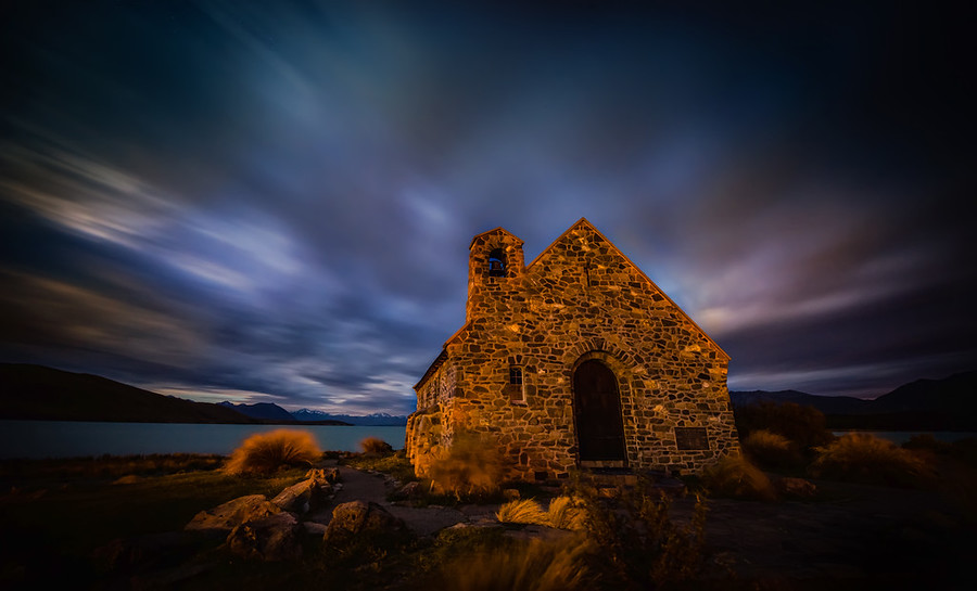 Moody Skies Over the Dark Church