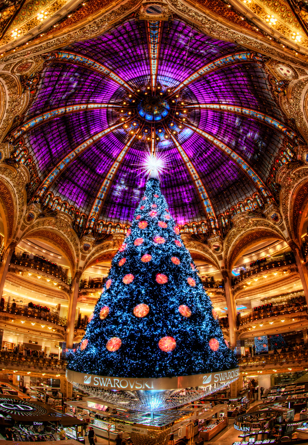 The Purple Crystal Christmas Tree