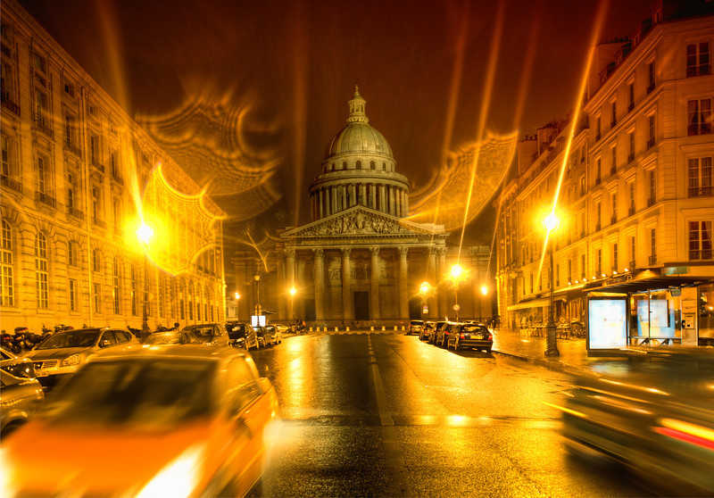 """<h2>The Pantheon</h2> Scott and I went out almost every night taking photos all over Paris. The Pantheon here was right by our hotel. It was a rainy night when we were arriving home, so I had a feeling it would be a good time for photography! My intuition is not always spot-on, but in this case it worked out pretty well.  - Trey Ratcliff  Read the rest and see the long version of the SmugMug video <a href=""""http://www.stuckincustoms.com/2011/10/09/the-pantheon/"""">here</a> at the Stuck in Customs blog."""