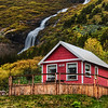 "<h2>Little Elves, Little Waterfall</h2> Going into one of the valleys by Isafjordur takes you to many little homes near waterfalls.  I thought this one was quite lovely.  And if you look to the left there, you'll see the tiny homes they also built for the elves.  I was editing this photo at dinner one evening in Isafjordur.  One of the waitresses saw this house, recognized it, and said, ""Oh that's jklasdj(jkasdj^dhsaj"".  Of course, I am doing my best to approximate the Icelandic language there...  - Trey Ratcliff  Read the rest <a href=""http://www.stuckincustoms.com/2011/08/30/little-elves-little-waterfall/"">here</a> at the Stuck in Customs blog."