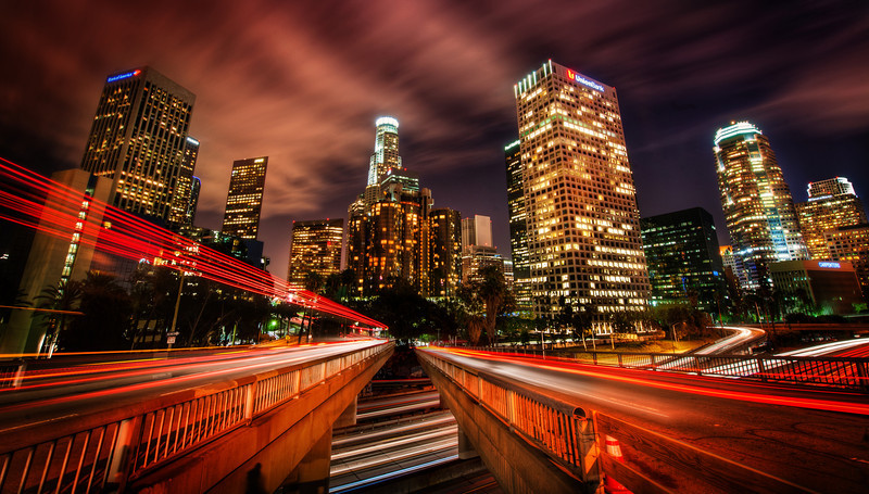 "<h2>The Starlight in Downtown Los Angeles</h2><br/> Here is a crazy spot I found thanks to sweet sweet Stuck On Earth. I've been to downtown LA many times, and there are many good angles, but I think this one is just about one of the best.<br/><br/>There was a lot of waiting around, however. I had to wait for big busses to pass me on either side so I could set up for the long exposure.<br/><br/>Usually, I'll take 5 exposures in these situations, but I do something a little special. I'll take the quicker exposures right away (often 1 or 2 seconds). And then I'll pause and wait for a bus or something before taking the longer exposures. I create the HDR then mask in the tail lights from the photos where I get the best trails. I made that sound easier than it is, I think.<br/><br/>-Trey Ratcliff<br/><br/><a href=""http://www.stuckincustoms.com/2012/06/07/the-starlight-in-downtown-los-angeles/"" rel=""nofollow"">Click here to read the rest of this entry at the Stuck in Customs blog.</a>"