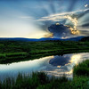 """<h2>The Atomic Explosion and Mushroom Fallout at Sunset</h2> <br/>If you want to see how I made this (and how you can too!), visit my HDR Tutorial. I hope it gives you some new tricks!<br/><br/>I think about all the sunsets I miss. I always seem to be out and about somewhere, noticing a great sunset whilst noticing that I am not even close to my camera and tripod. It's just unacceptable!<br/><br/>This day and evening I was in Yellowstone alone. I had just seen a grizzly bear and a black bear about 30 minutes before this shot, both of which are pretty rare to see. They went on their way and I was left in the middle of this area with just a few elk meandering a few hundred feet from me. I tried to not get overly """"sucked into"""" the sunset, trying to remember those bears that were lurking about. The ground was pretty marshy here, so I was not in optimal conditions for running from a bear.<br/><br/>- Trey Ratcliff<br/><br/><a href=""""http://www.stuckincustoms.com/2008/07/16/the-atomic-explosion-and-mushroom-fallout-at-sunset/"""" rel=""""nofollow"""">Click here to read the rest of this post at the Stuck in Customs blog.</a>"""