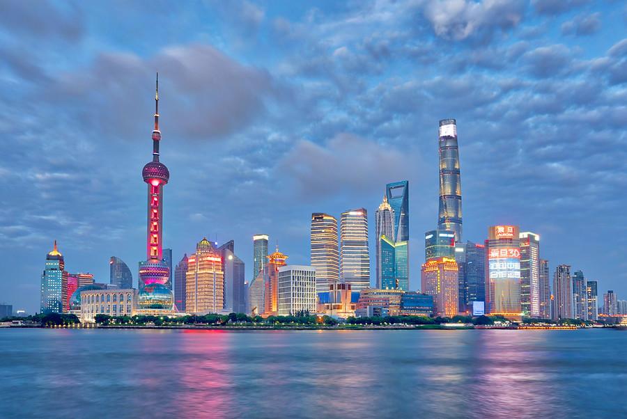 On the Bund in Shanghai