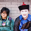 """<h2>Painted Face in China</h2> <br/>I was walking along outside the Forbidden City trying to find a special entrance, and I saw these guys sitting on a bench. It was so interesting and amusing… I dropped down on a knee to take a quick photo while things were perfectly strange. What do you think is going on in this photo?<br/><br/>- Trey Ratcliff<br/><br/><a href=""""http://www.stuckincustoms.com/2011/11/18/painted-face-in-china/"""" rel=""""nofollow"""">Click here to read the rest of this post at the Stuck in Customs blog.</a>"""
