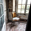 "<h2>The Lonely Chair</h2> <br/>This is a nice little object here, yes? I think it's hard to find things that stand by themselves in the middle of an area that is normally cluttered.<br/><br/>The chair was found in one of the many decrepit and ghostly rooms inside that chateau I mentioned a few days ago. I tried to squeeze my way into every possible room, but some were too full of junk to get around. This one was well lit and ideal! <br/><br/>- Trey Ratcliff<br/><br/><a href=""http://www.stuckincustoms.com/2013/05/01/the-lonely-chair/"" rel=""nofollow"">Click here to read the rest of this post at the Stuck in Customs blog.</a>"